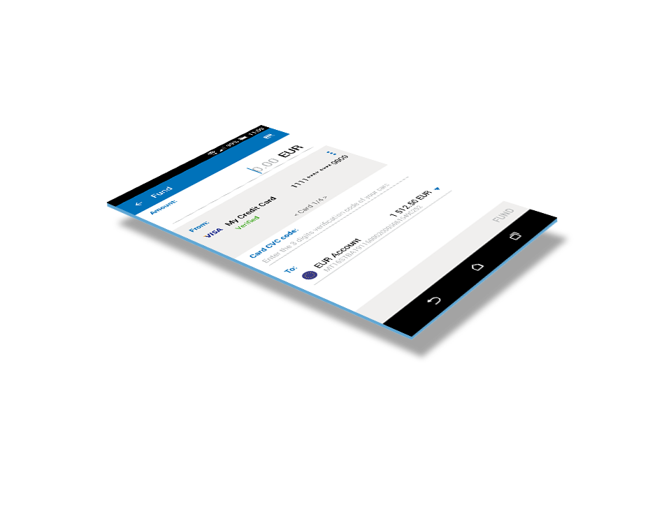 LeoPay mobile app - fund your balance